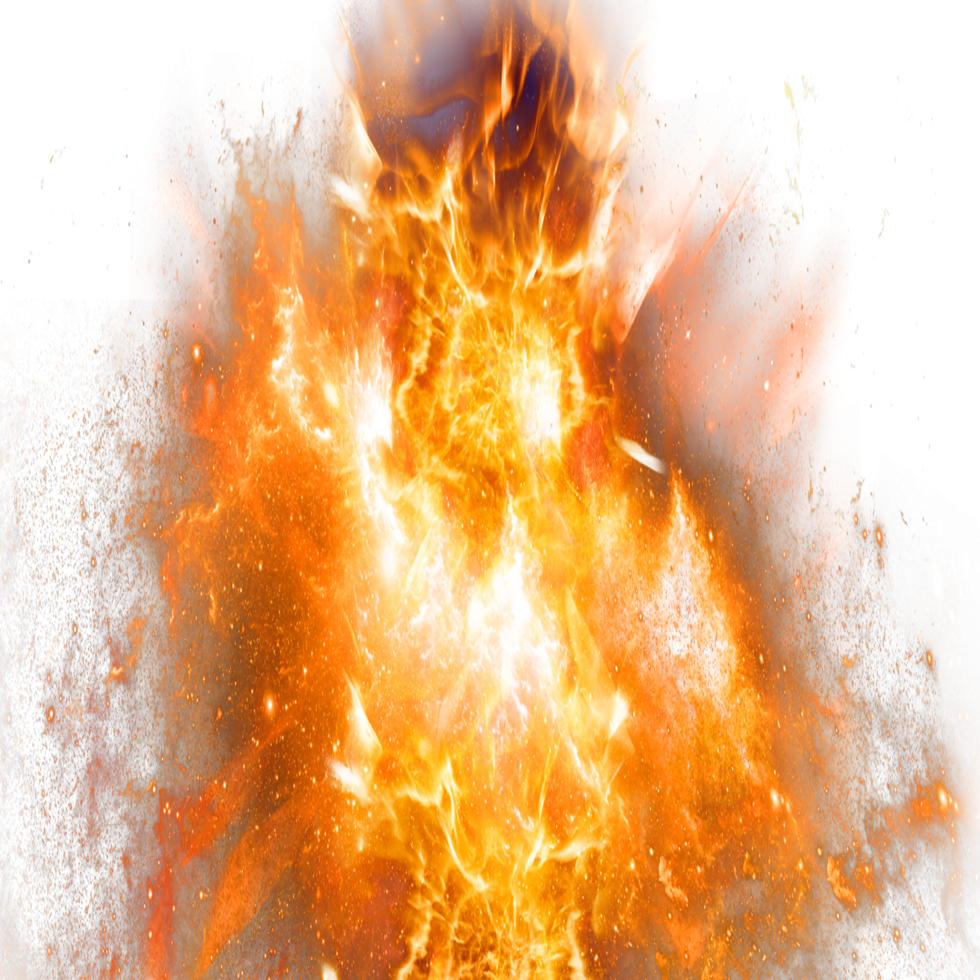 Explosion with Fire PNG