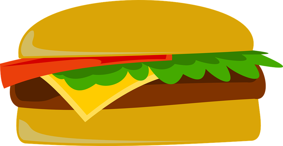 Cartoonish Hamburger