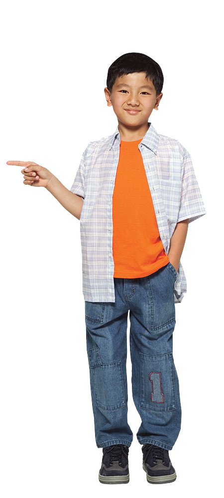 Asian Child Pointing PNG Image