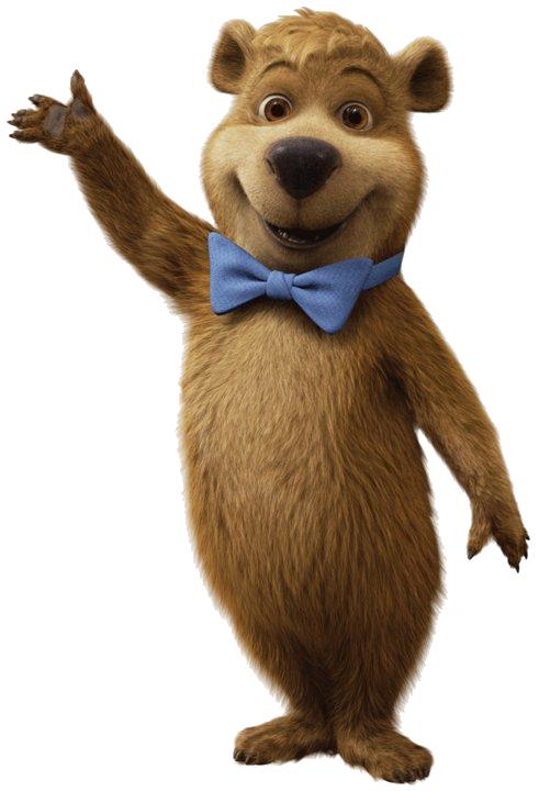 yogi bear waving