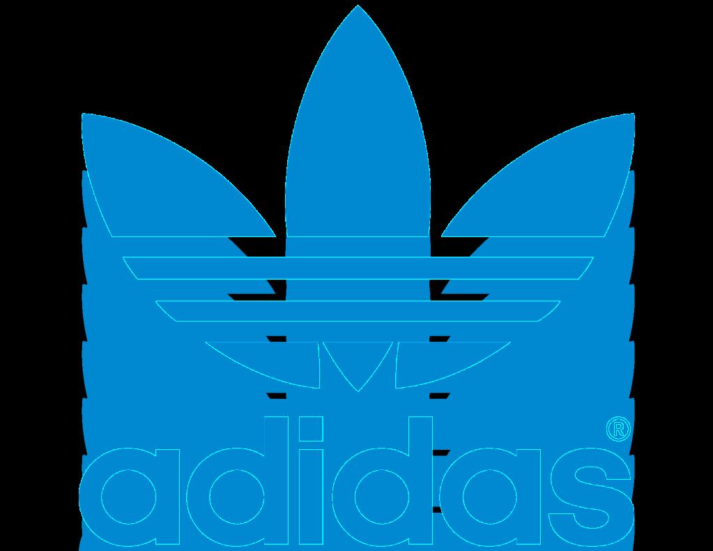 Old blue flower adidas Logo PNG Image