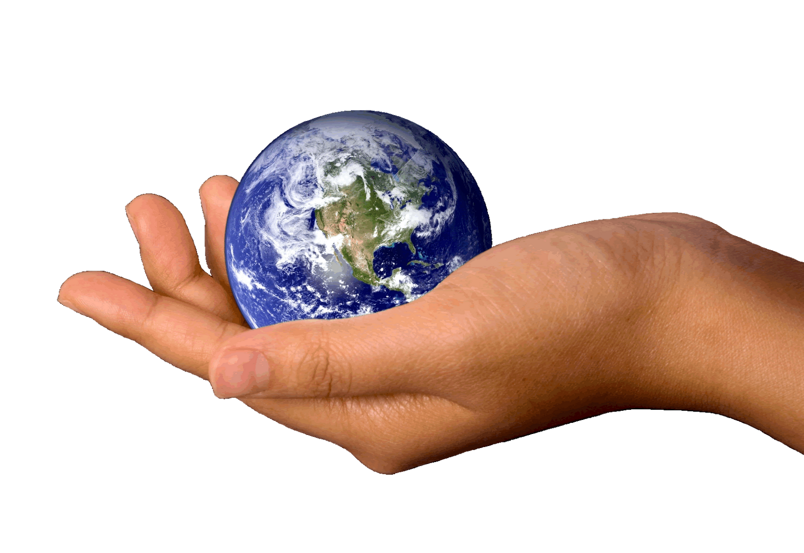 Earth On A Hand PNG Image