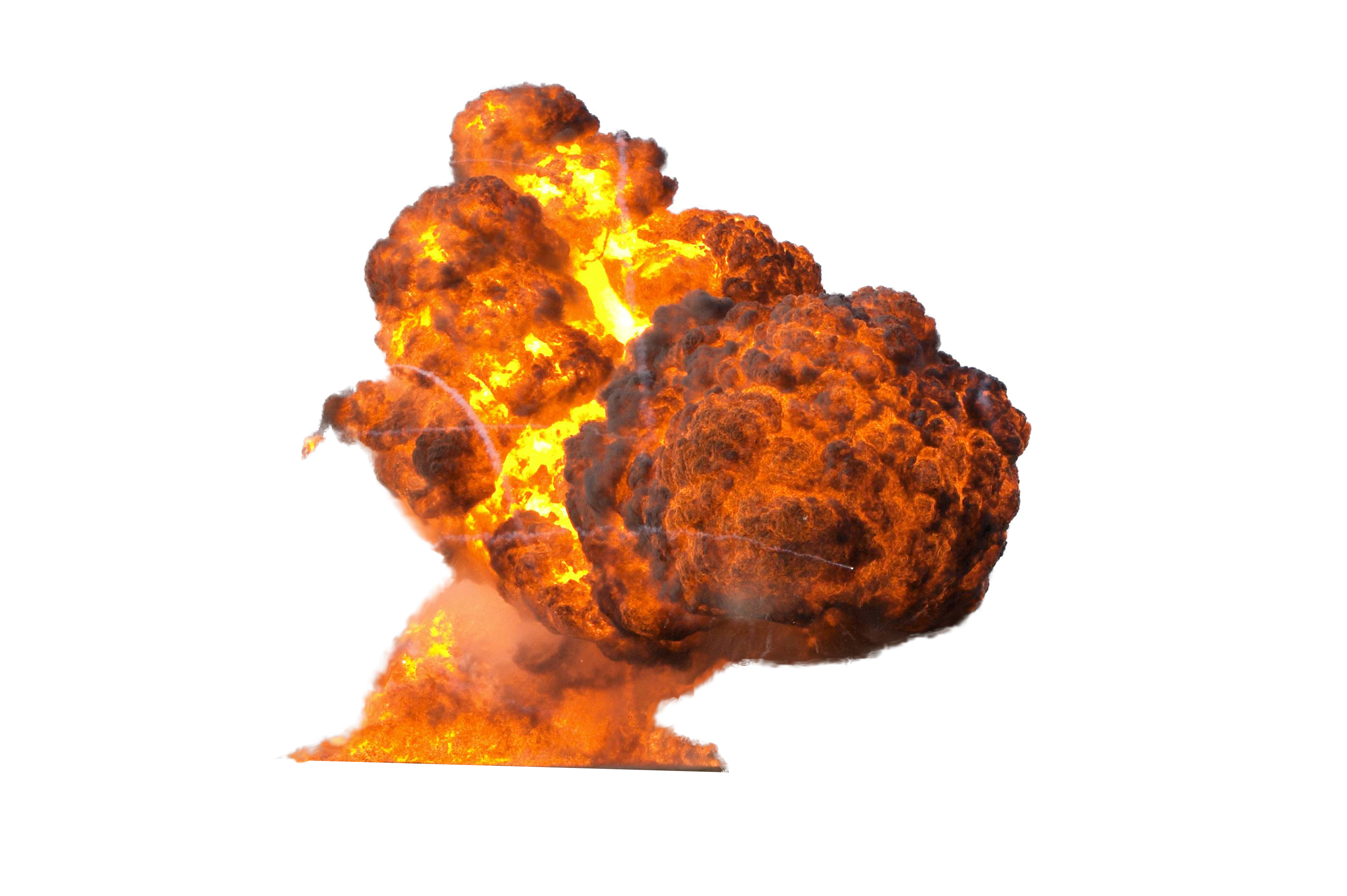 Flamming Hot Fire Explosion PNG Image