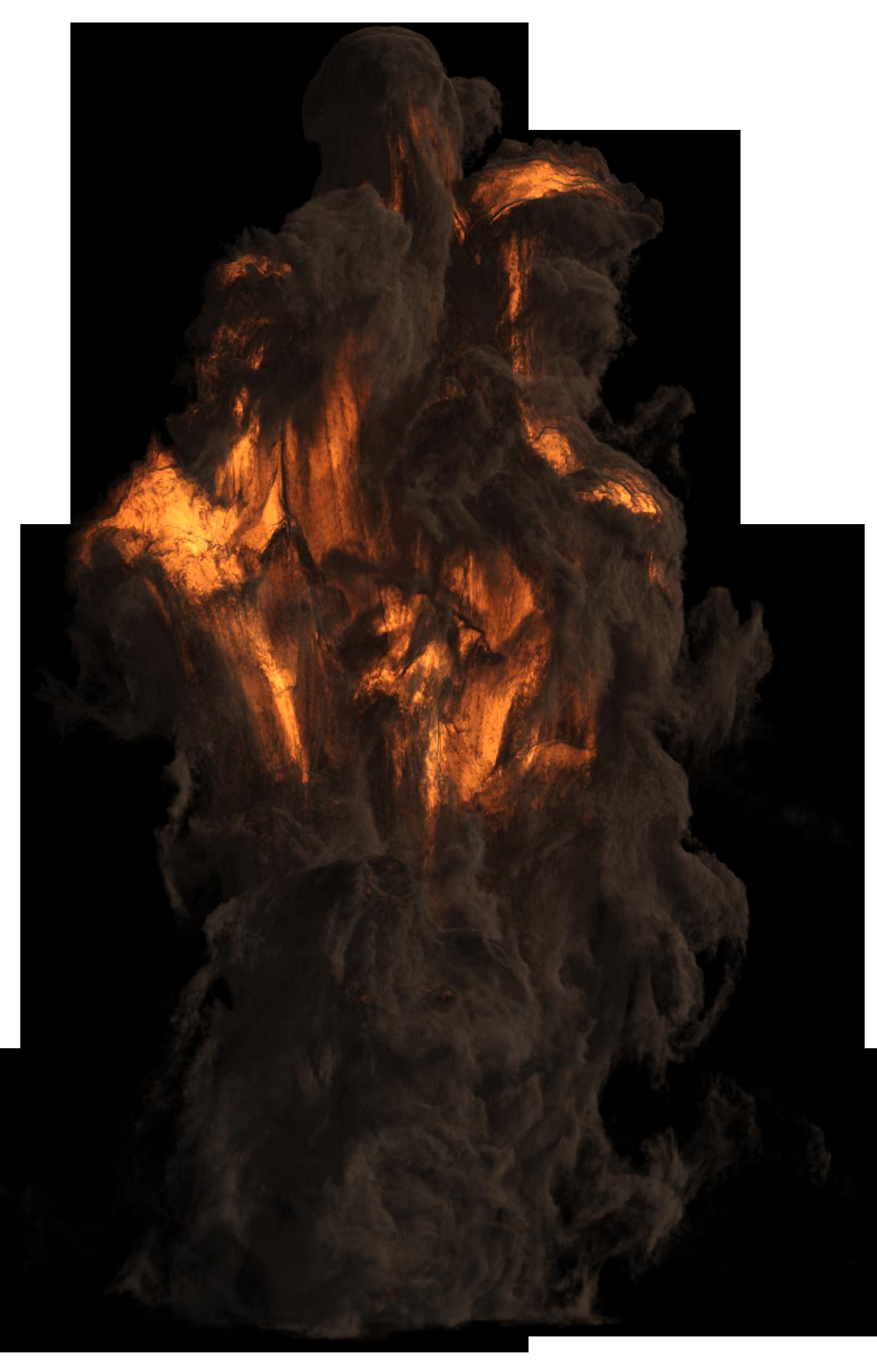 Smoking Explosion PNG Image
