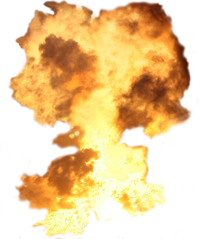 Big Explosion with Flames PNG Image