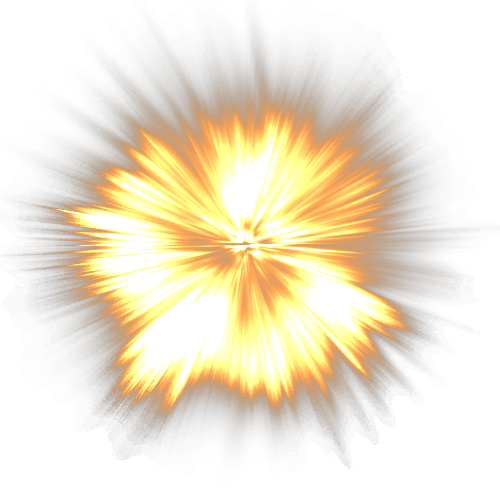 Sparkling Flame Fire Explosion PNG Image