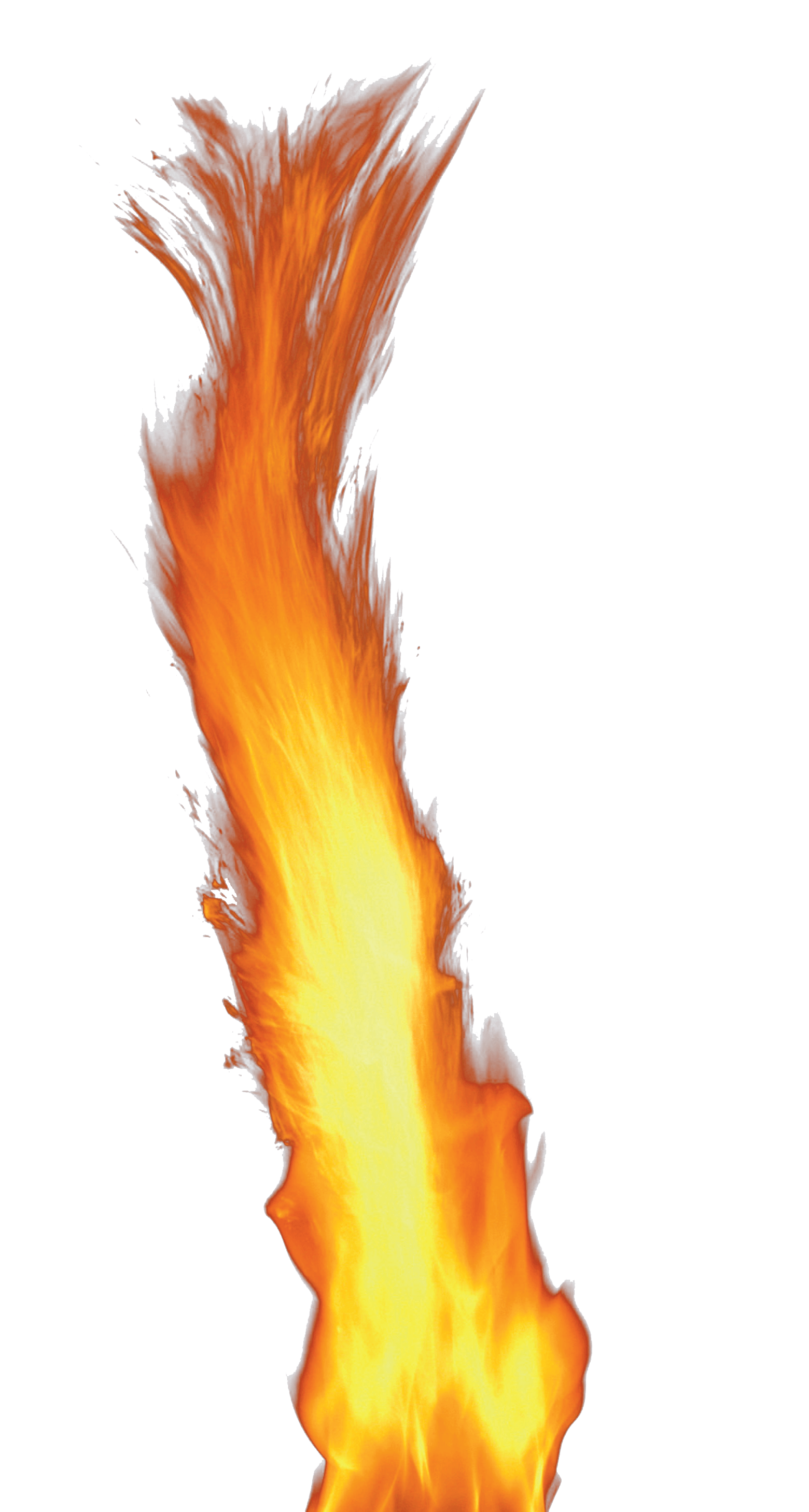 Single Flame Fire PNG Image