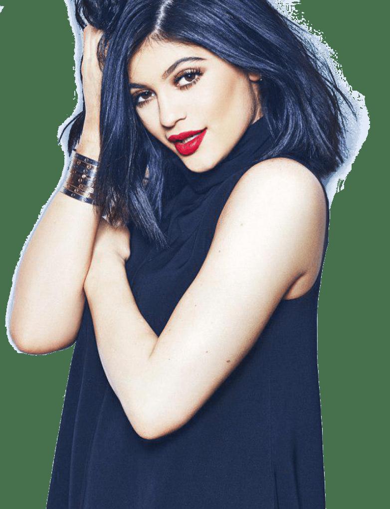 Kylie Jenner Blue Shirt PNG Image