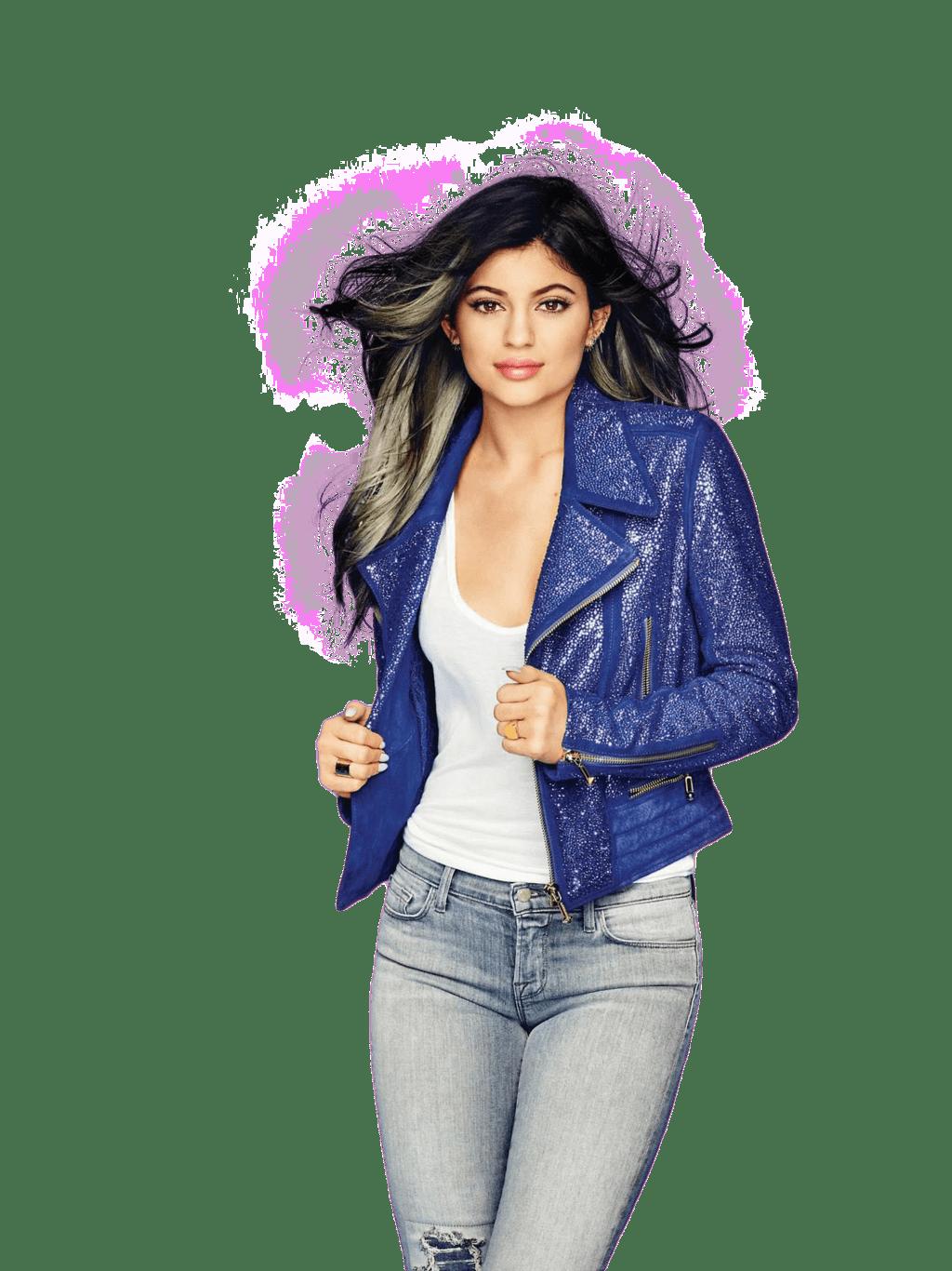Kylie Jenner Glitter Shirt PNG Image