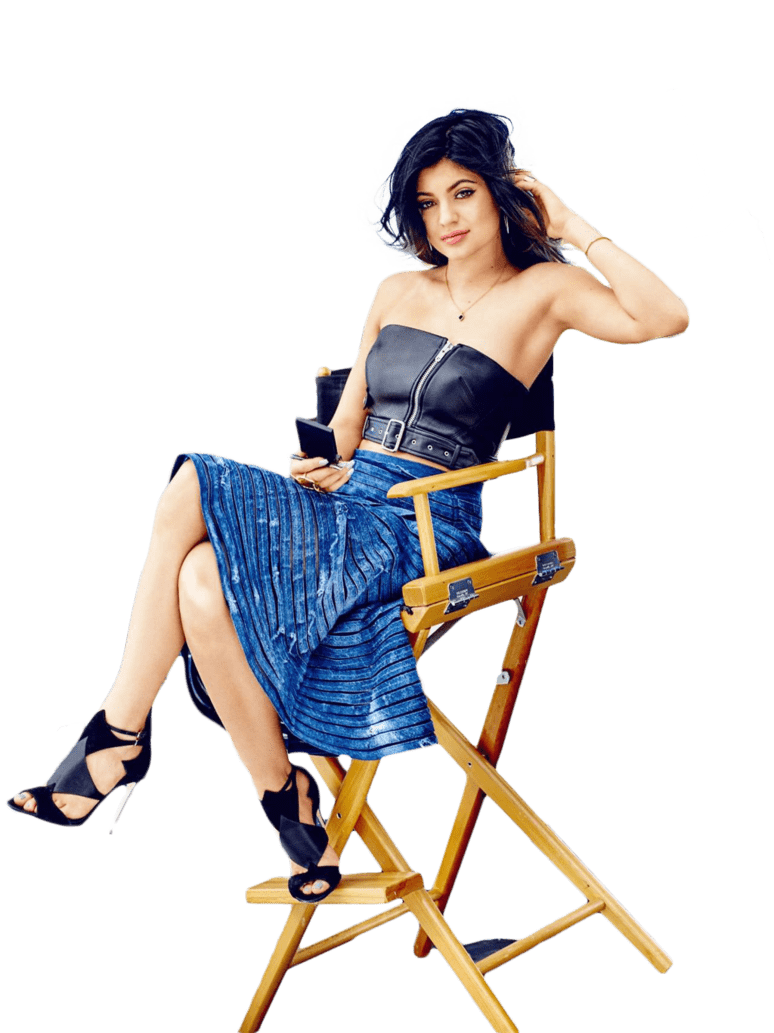 Kylie Jenner Sitting PNG Image