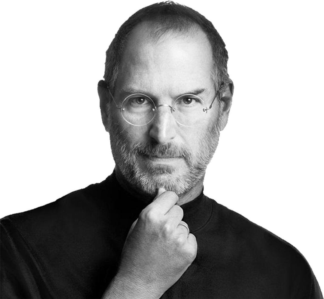 Steve Jobs Thinking PNG Image