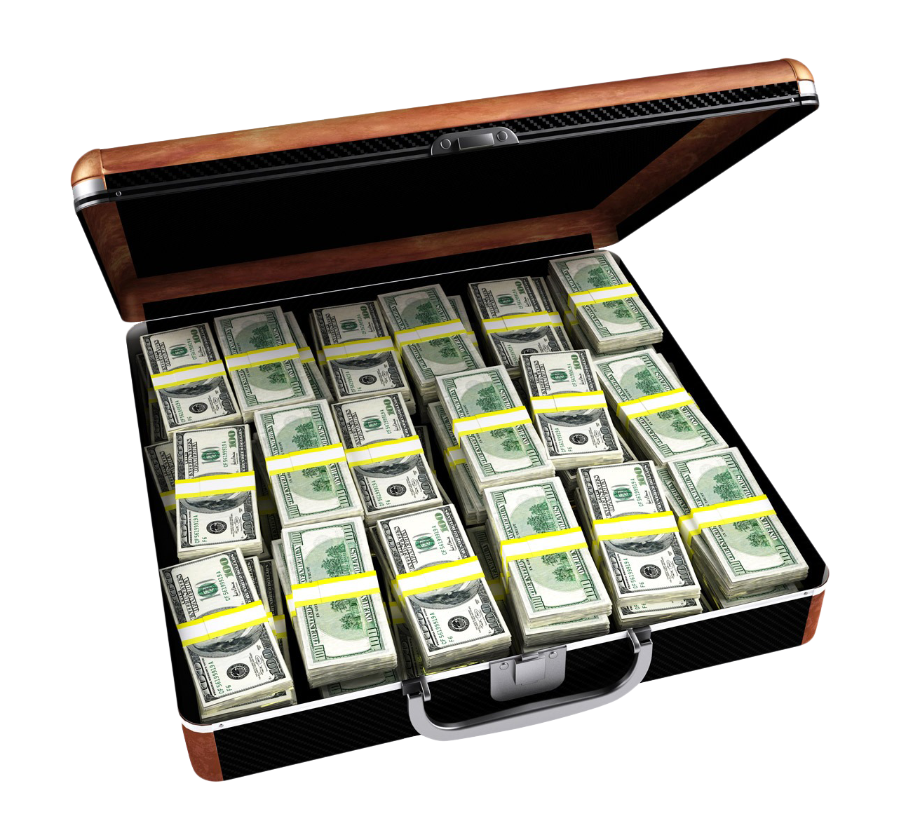 Case Full Of Dollar Briefcase