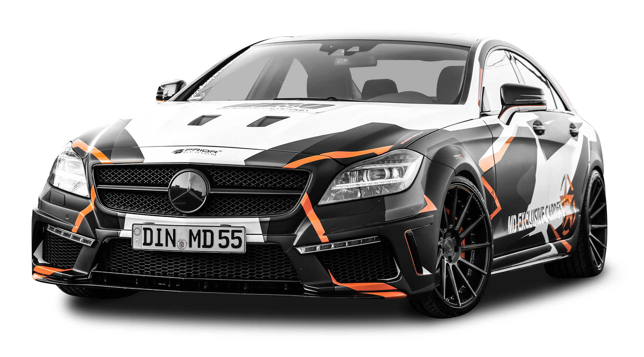Mercedes Benz CLS 500 Black Car PNG Image