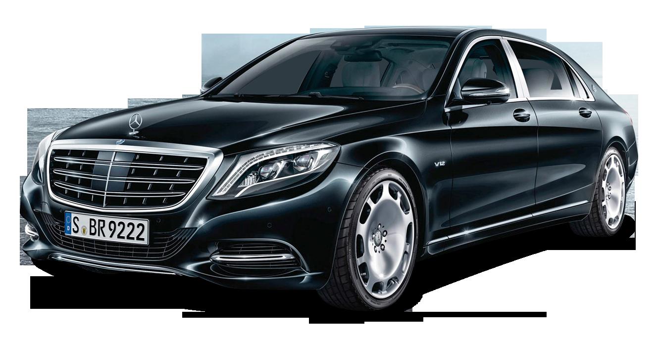 Mercedes Maybach S600 Black Car PNG Image