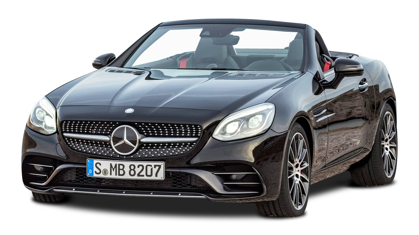 Black Mercedes AMG SLC 43 Car