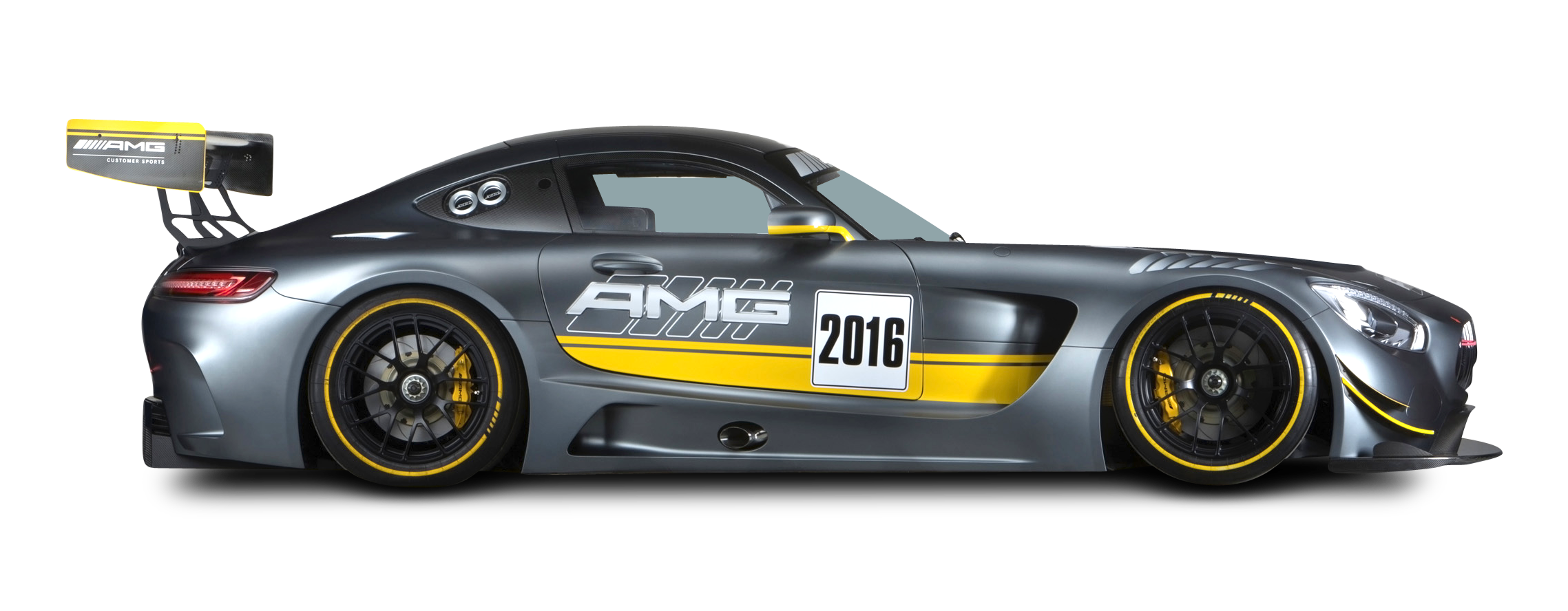 Grey Mercedes AMG GT3 Racing Car