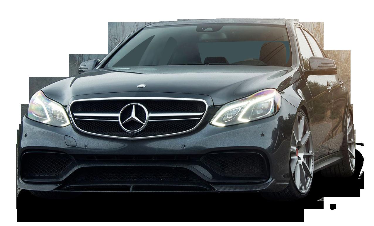Black Mercedes Benz E63 AMG Car PNG Image