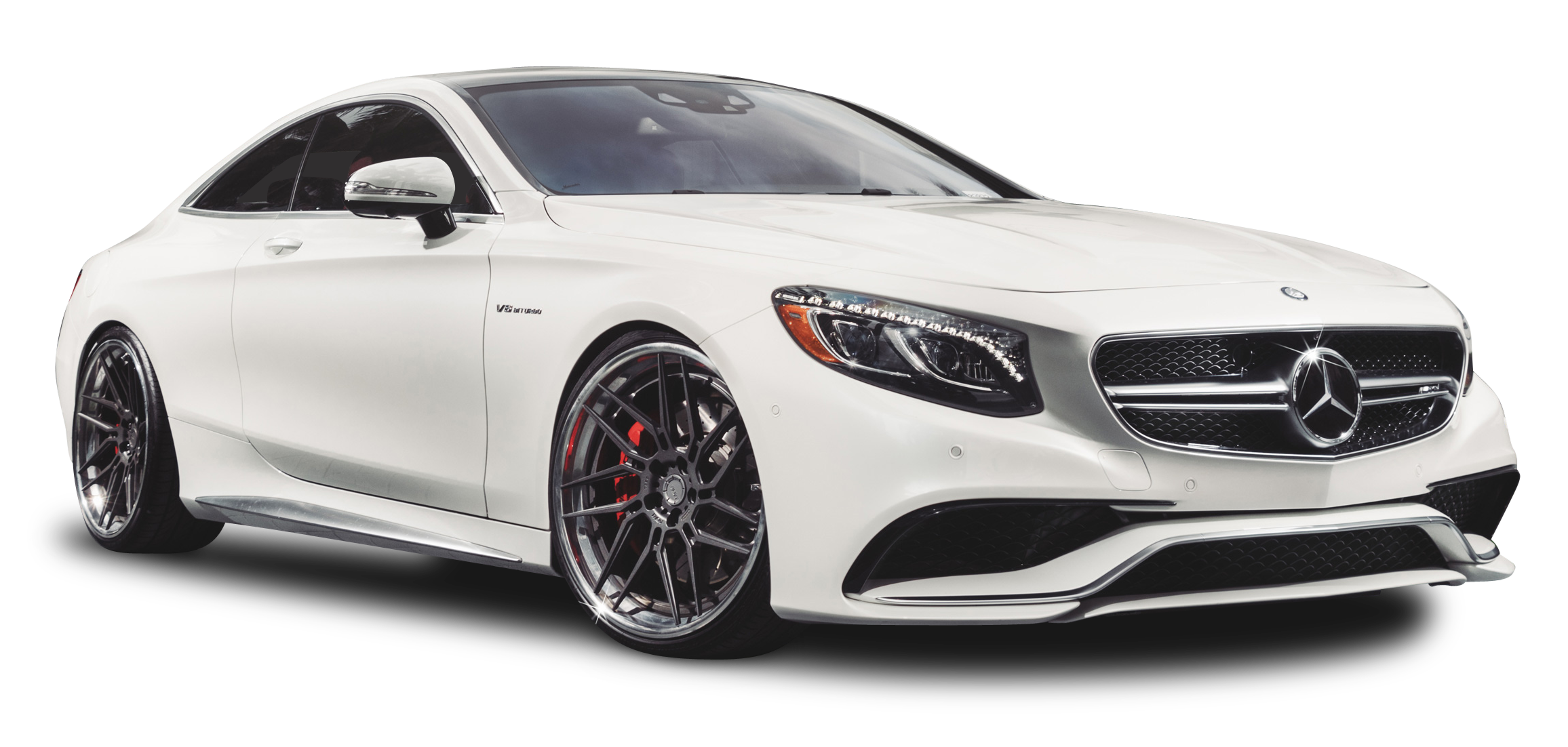 White Mercedes Benz S63 AMG Car PNG Image PurePNG