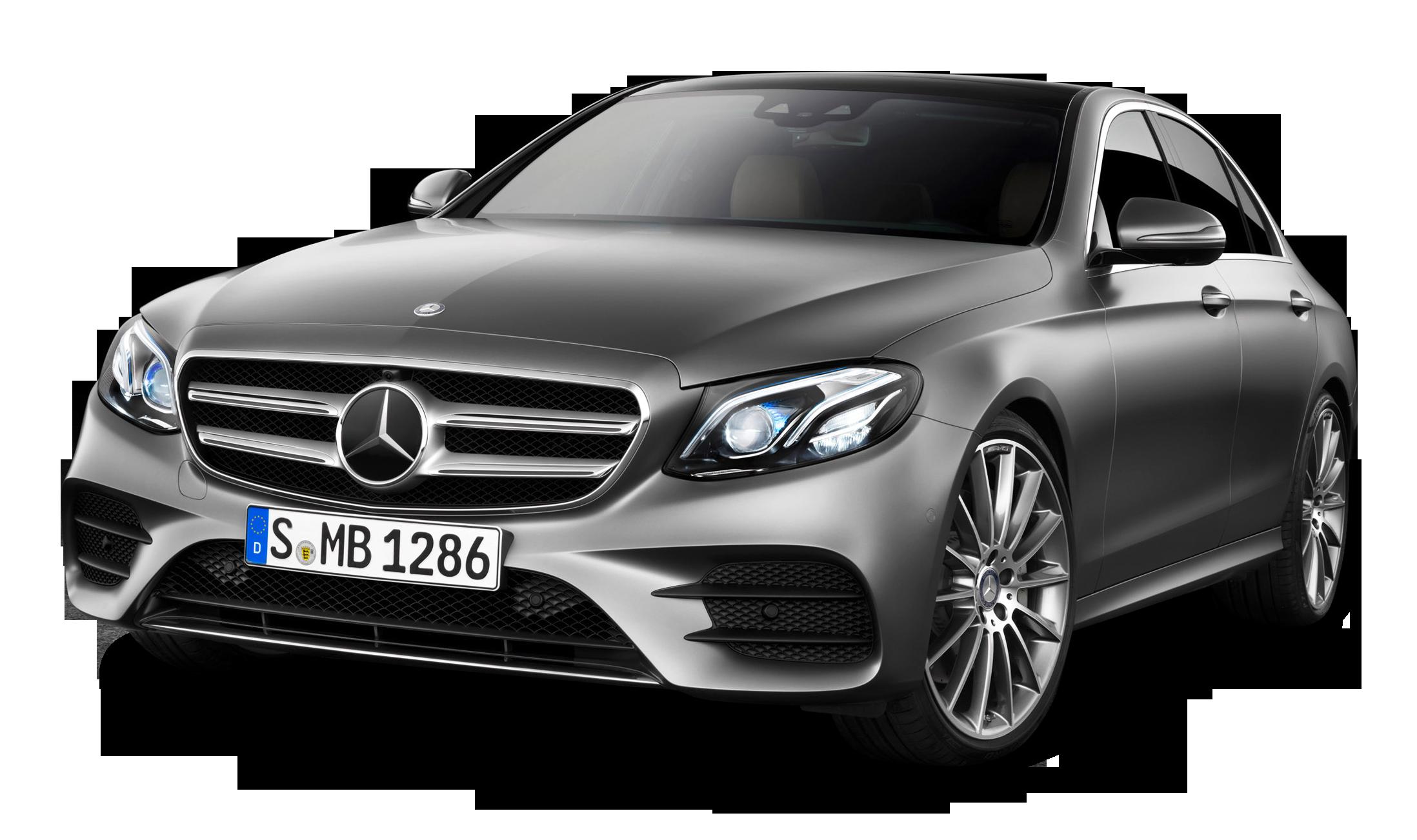 Grey Mercedes Benz E class Car