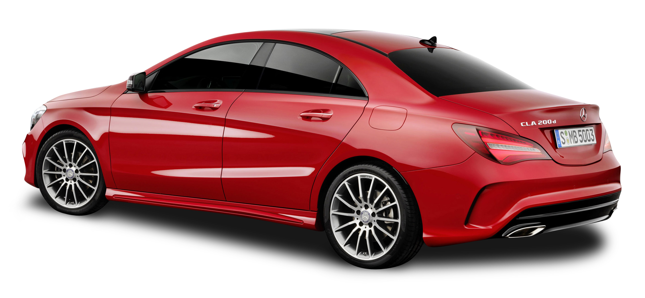 Mercedes Benz CLA Red Car PNG Image