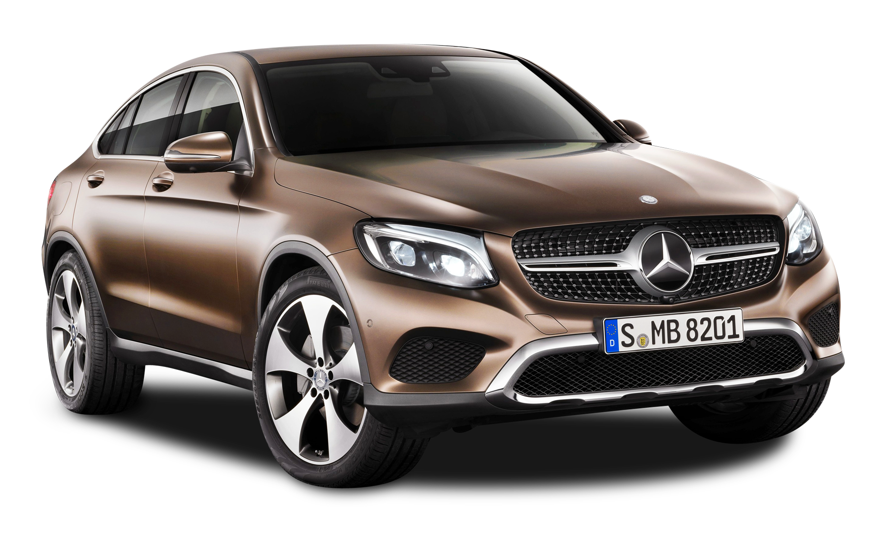 Luxury Vehicle: Brown Mercedes Benz GLE Coupe Car PNG Image