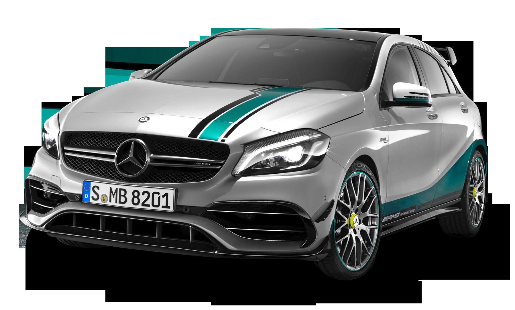 Mercedes AMG A45 Champions Car PNG Image