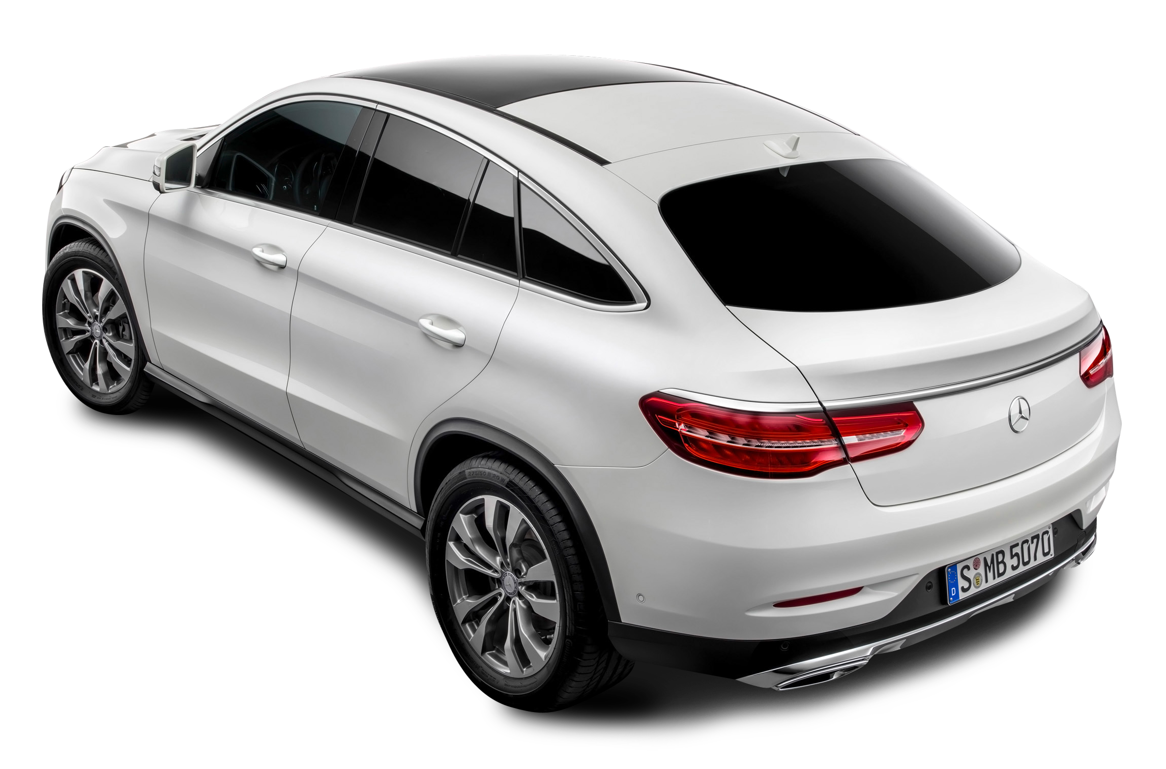 Mercedes Benz Back View White Car PNG Image