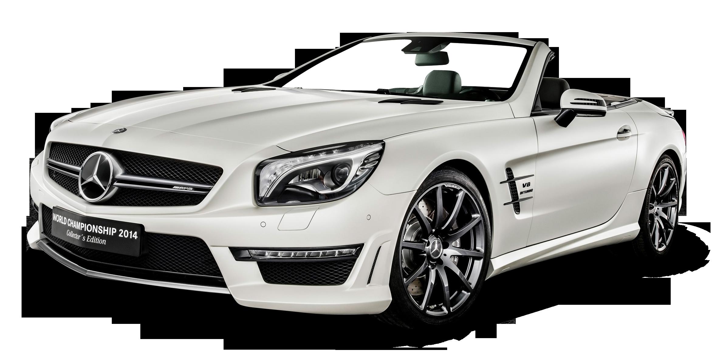White Mercedes AMG SL63 Car