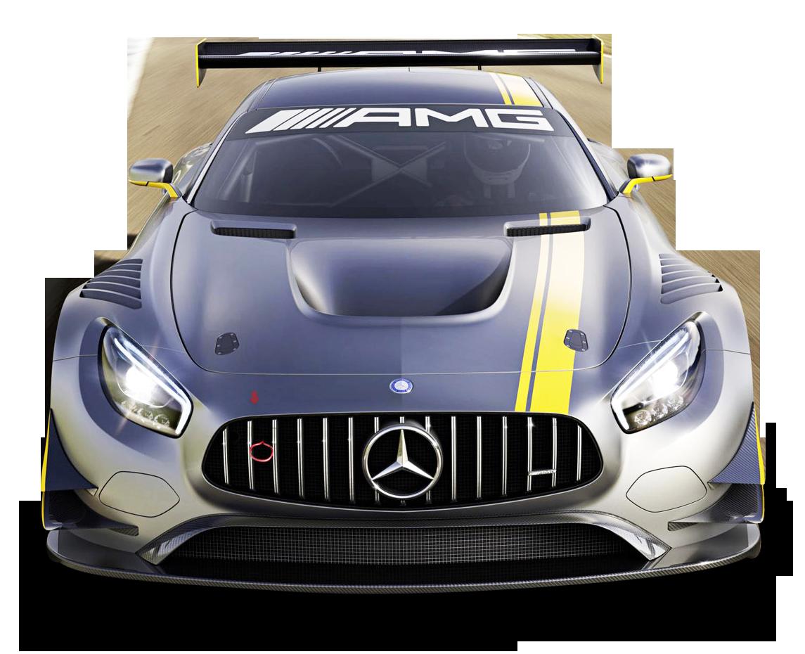 Gray Mercedes Benz Racing Car PNG Image