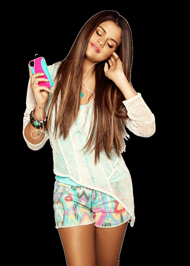 Selena Gomez Ipod PNG Image