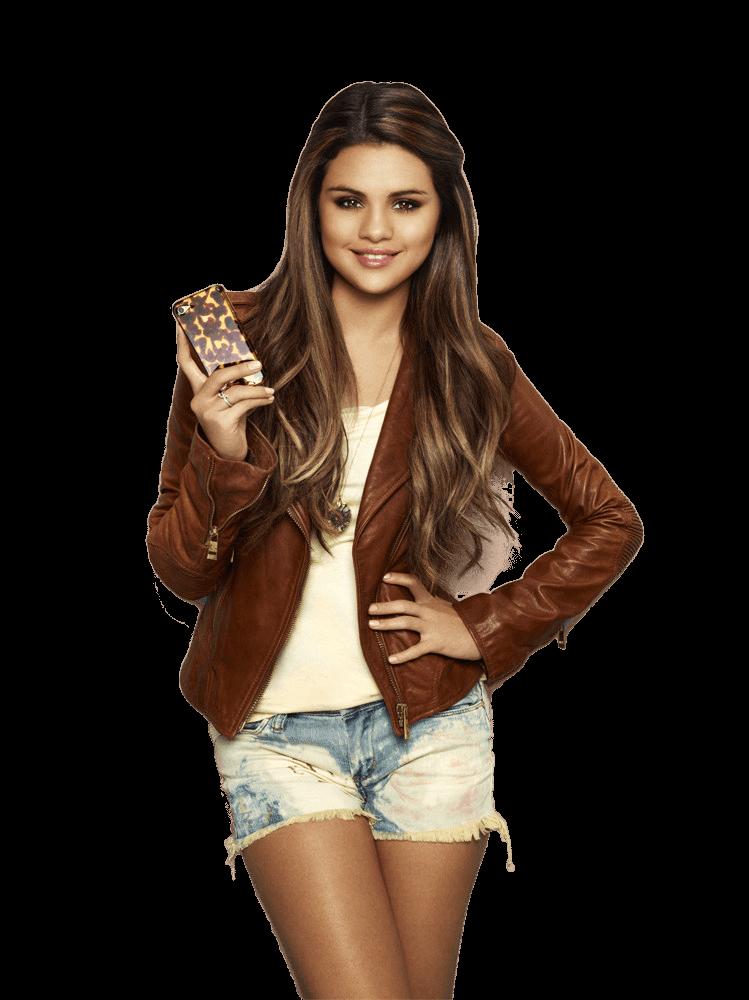 Selena Gomez Short Jacket PNG Image