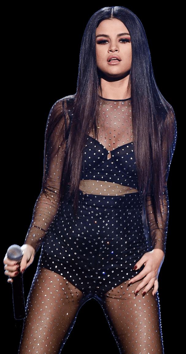 Selena Gomez Singing PNG Image