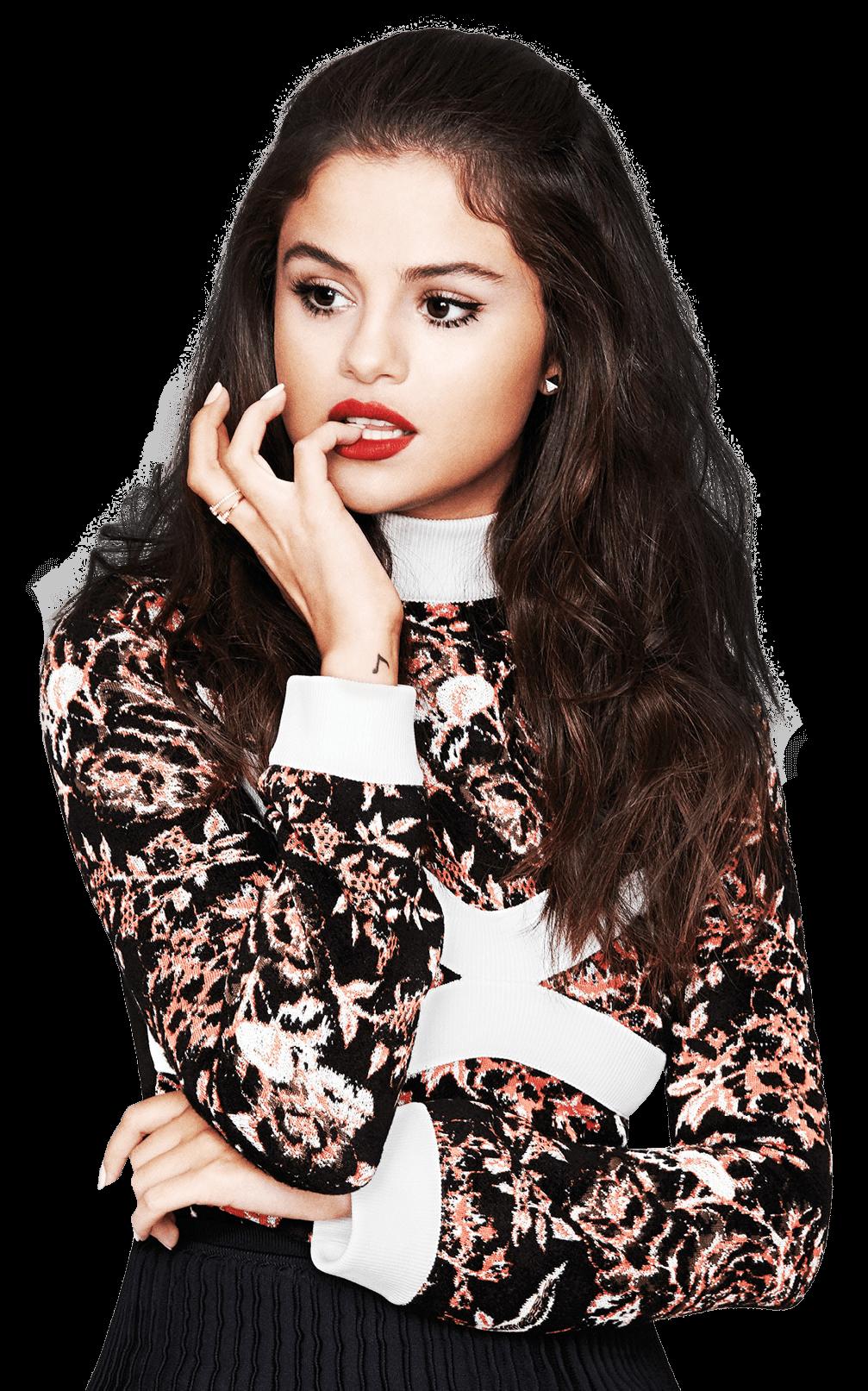 Selena Gomez Thinking PNG Image