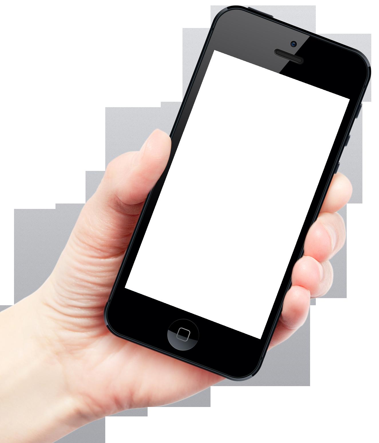 Hand Holding Smartphone Apple iPhone