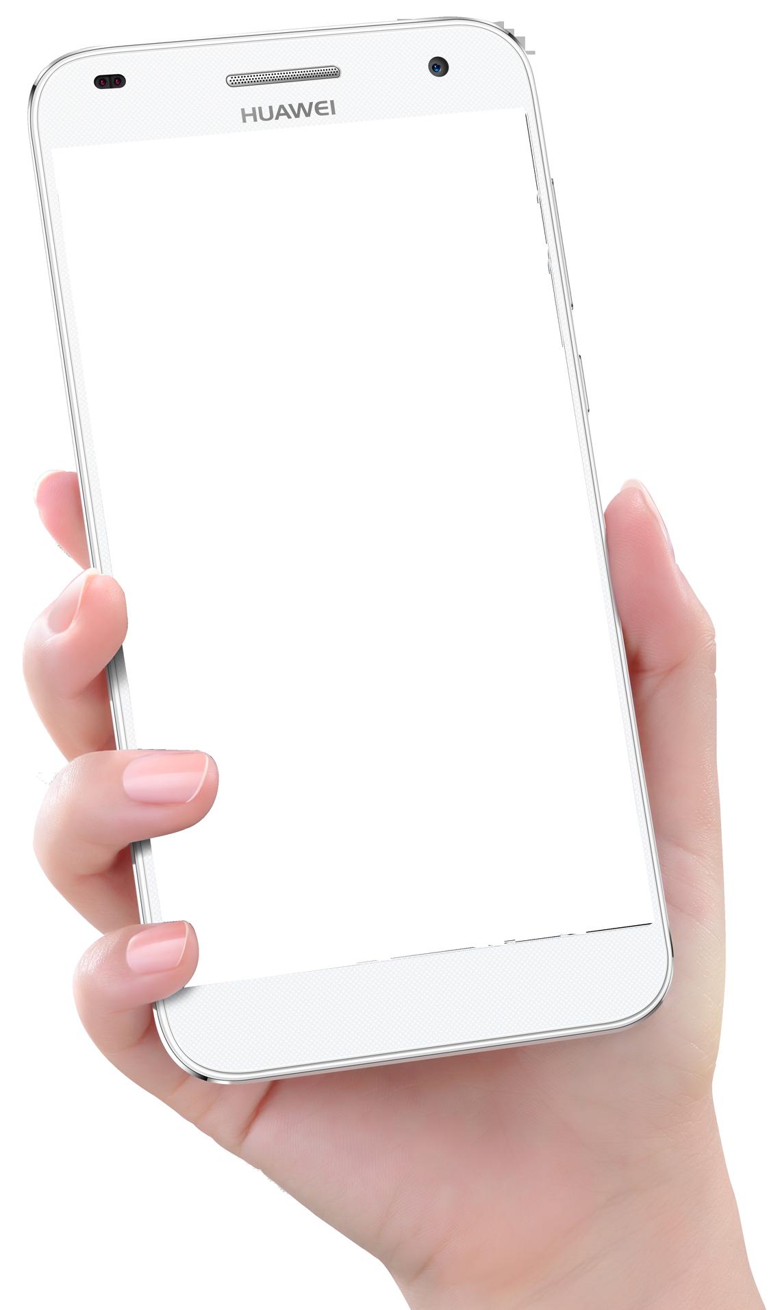 Hand Holding Smartphone Huawei