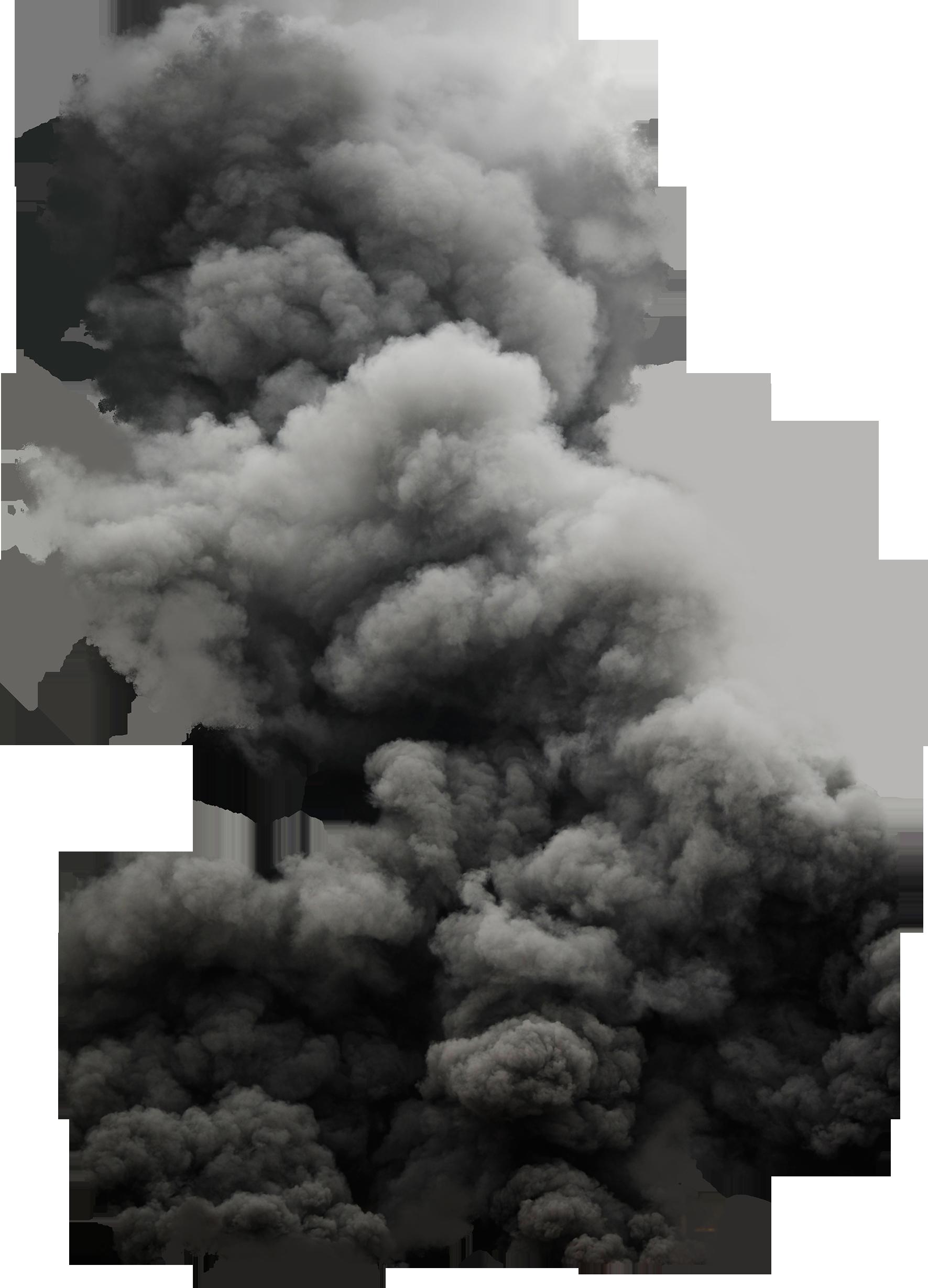 Black Cloud Smoke PNG Image
