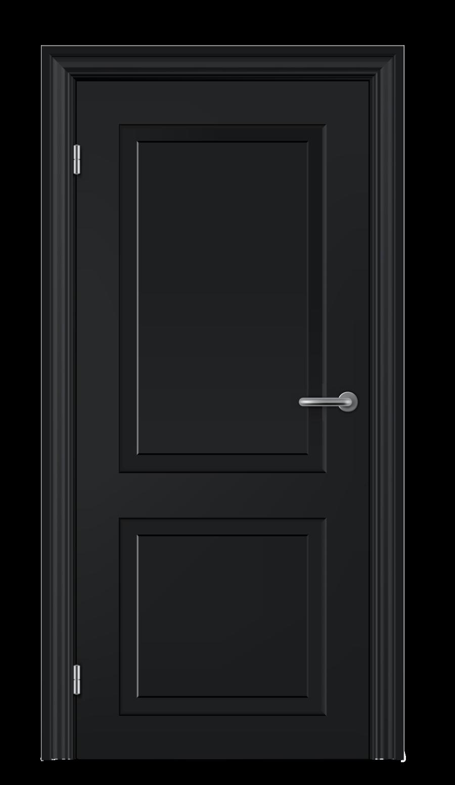 Modern Black door