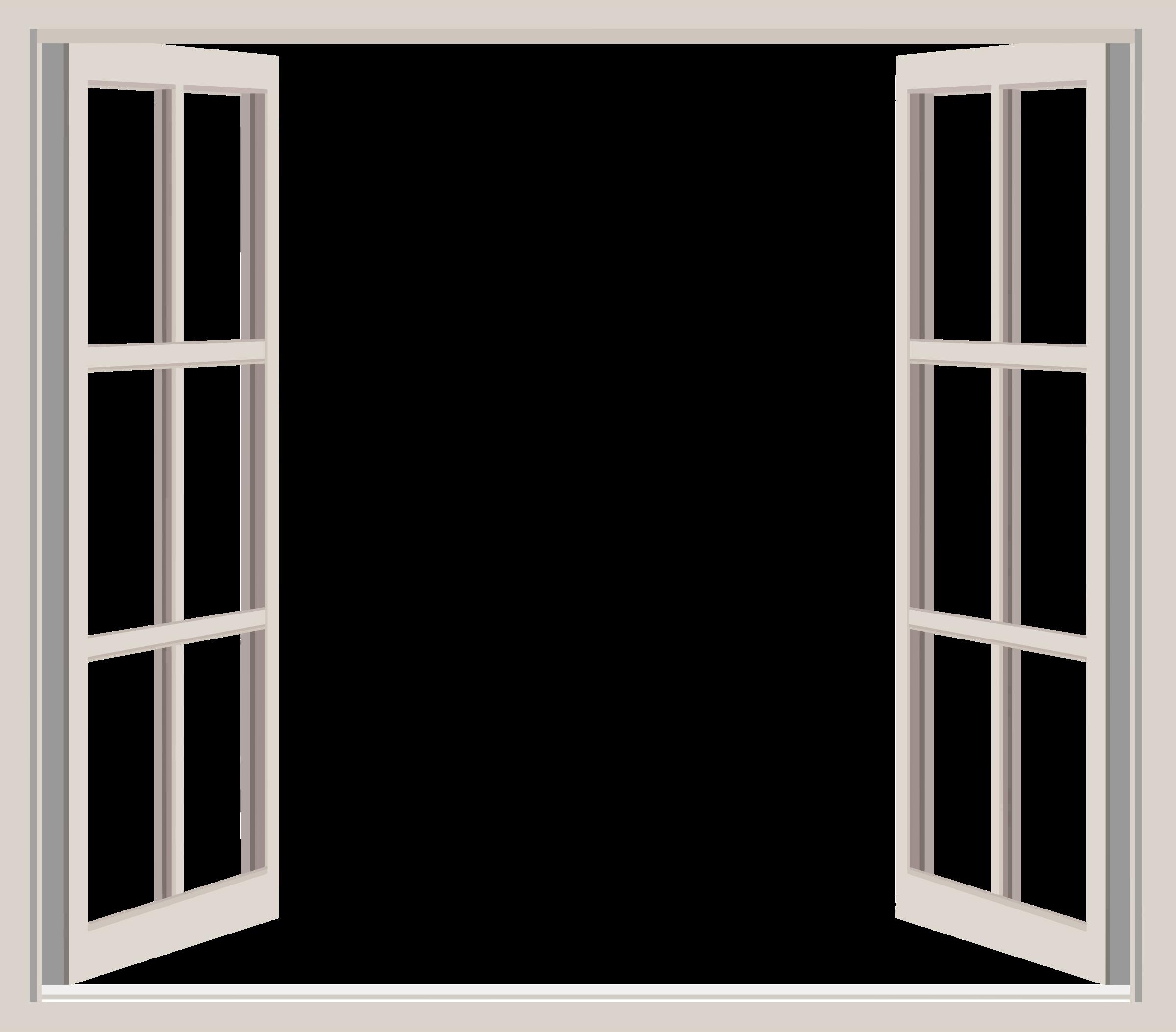 white Opened window