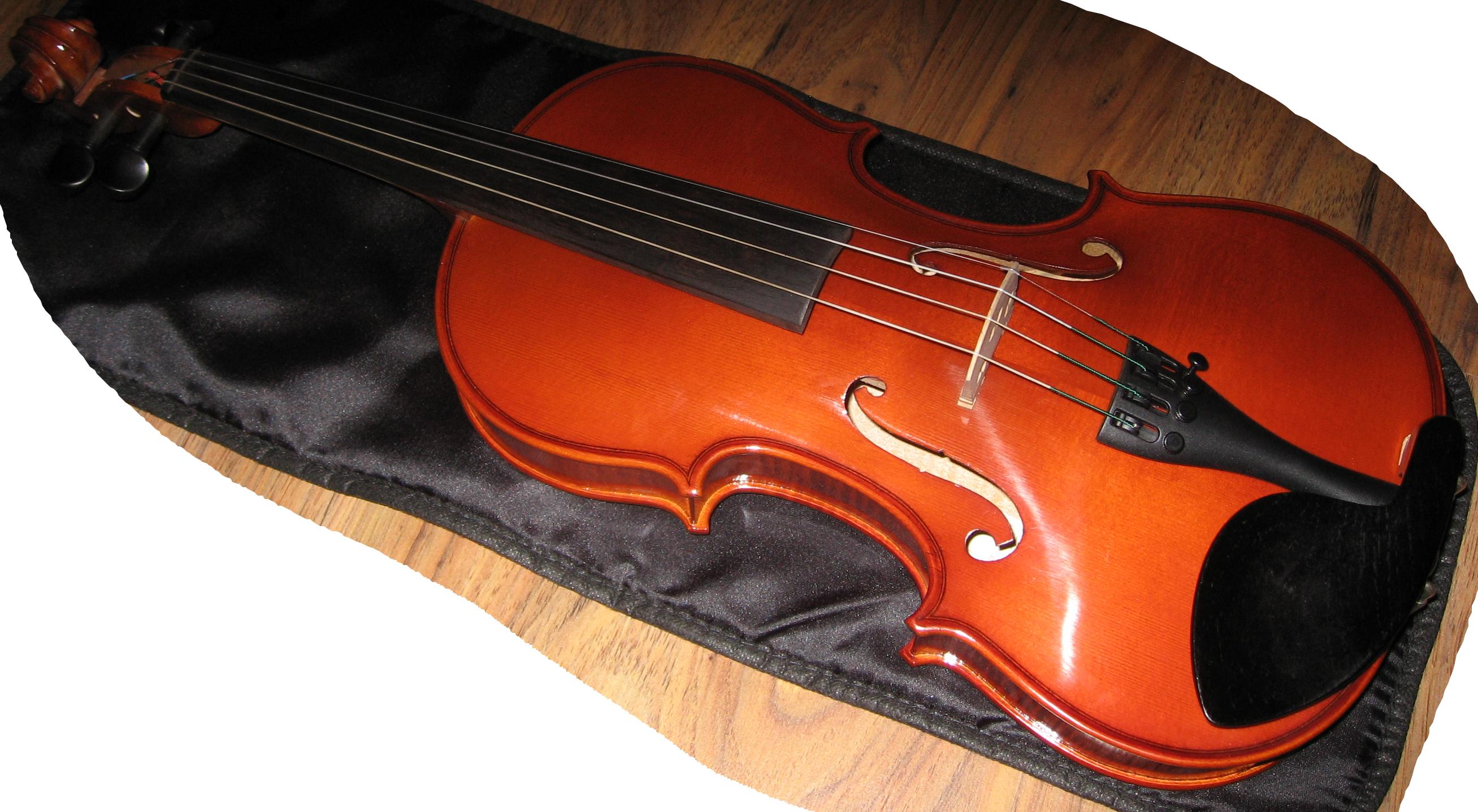 wooden Violin PNG Image