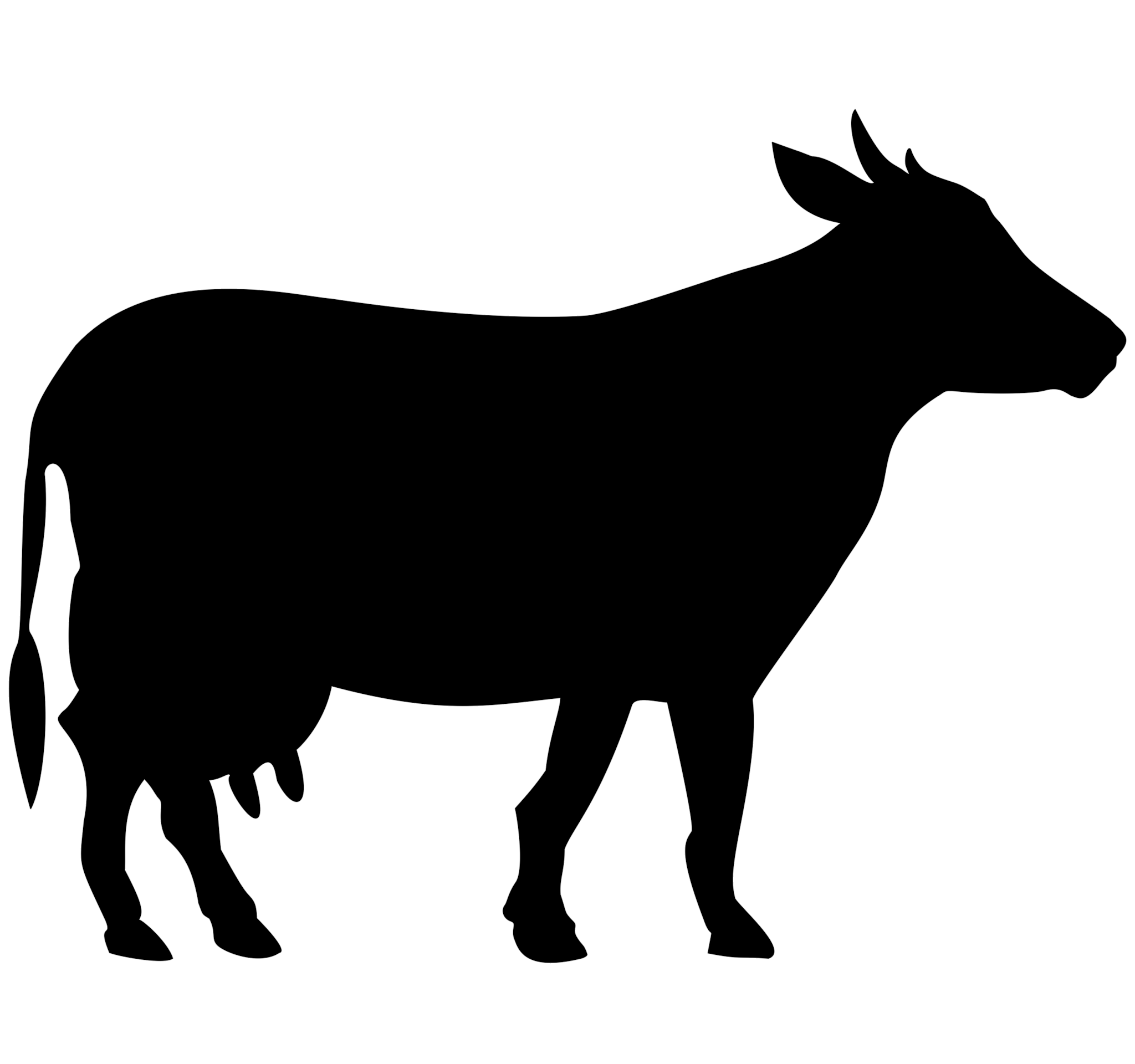 Cow Siluete black