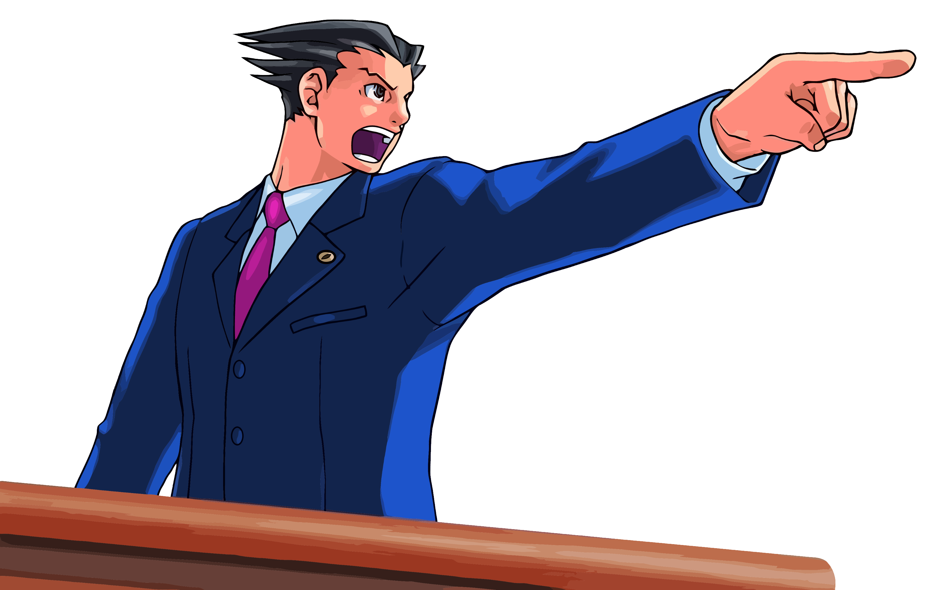 Ace Attorney Pointing PNG Image