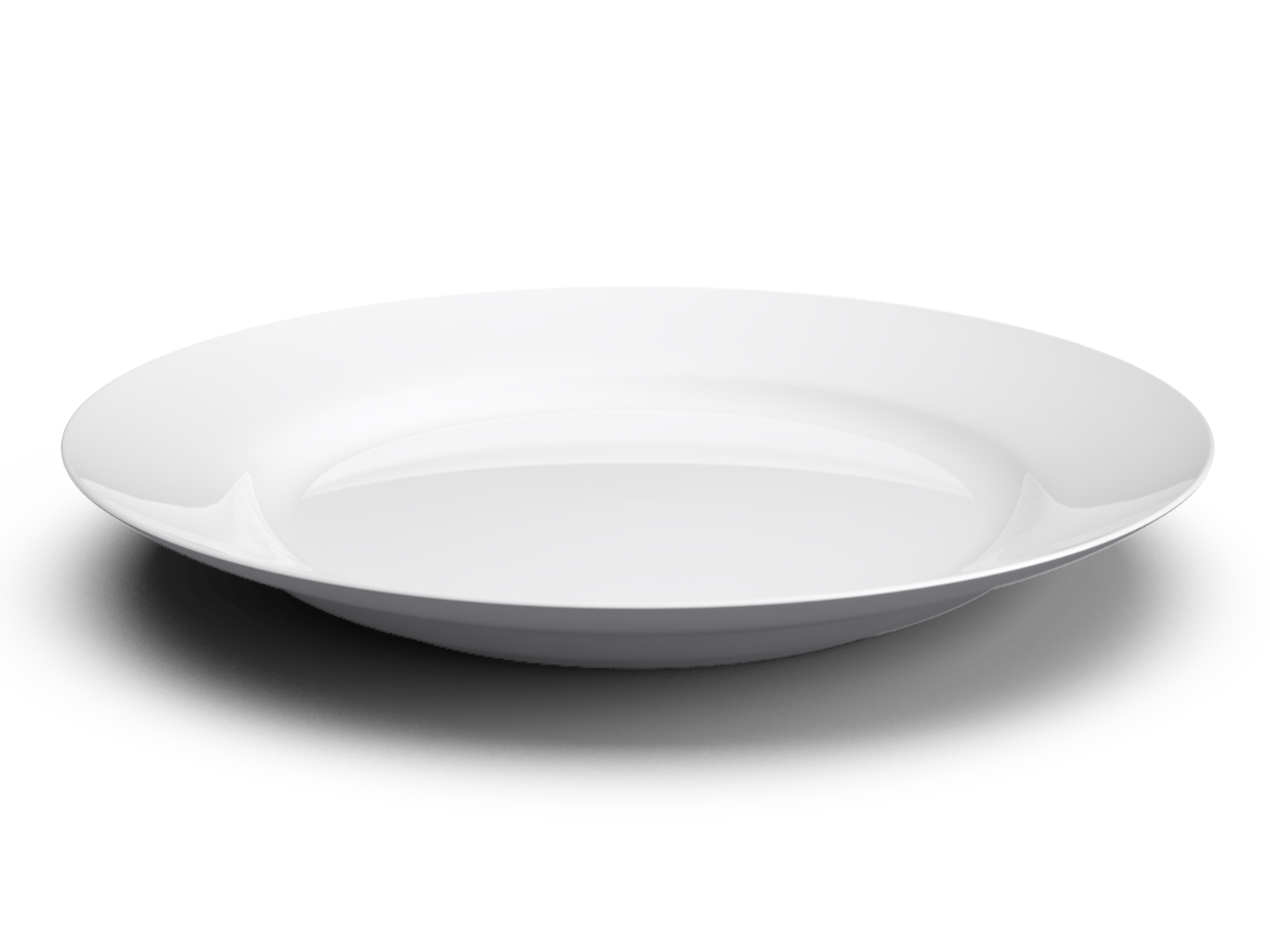 White Basic Plate With Shadow Png Image Purepng Free
