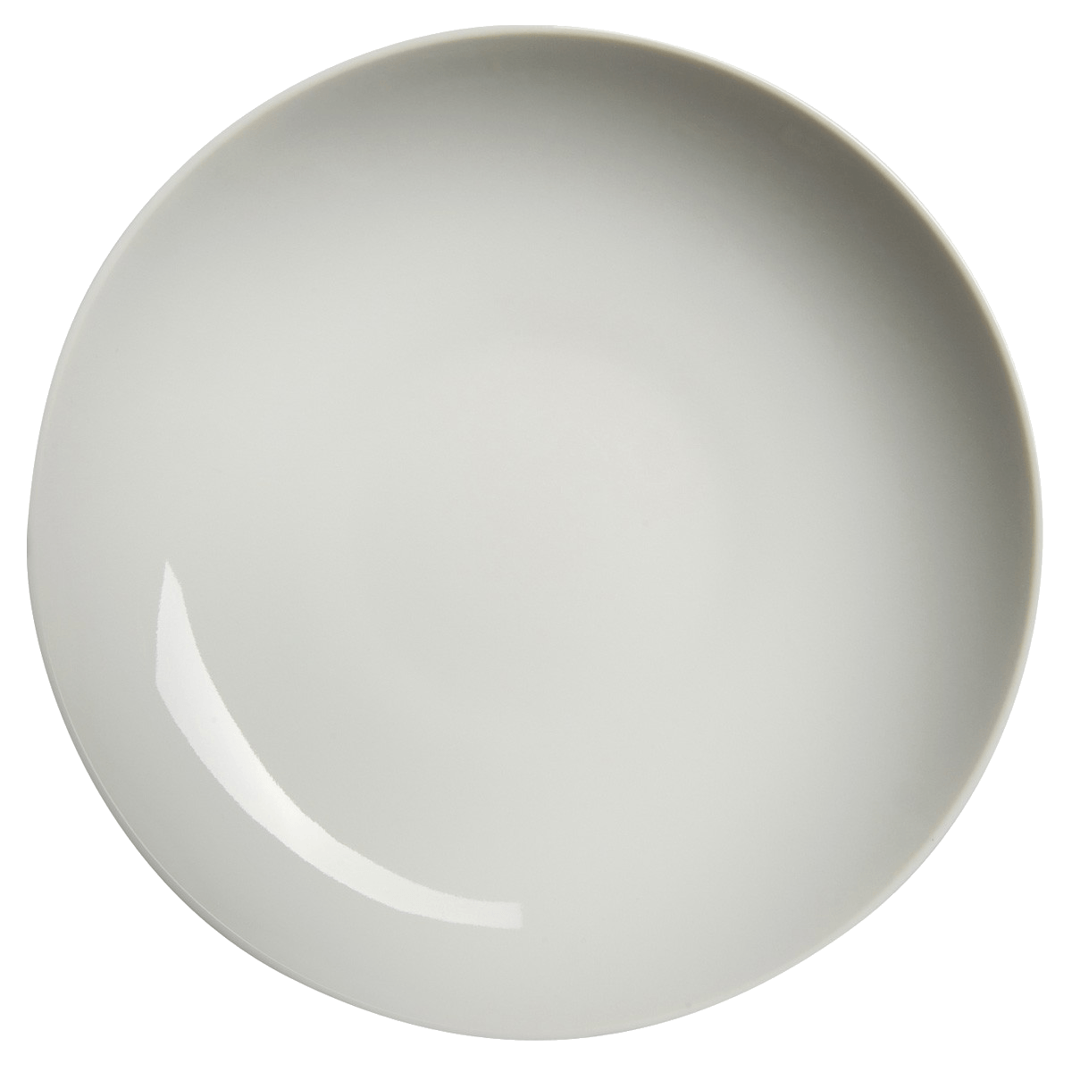 White basic Plate topview PNG Image