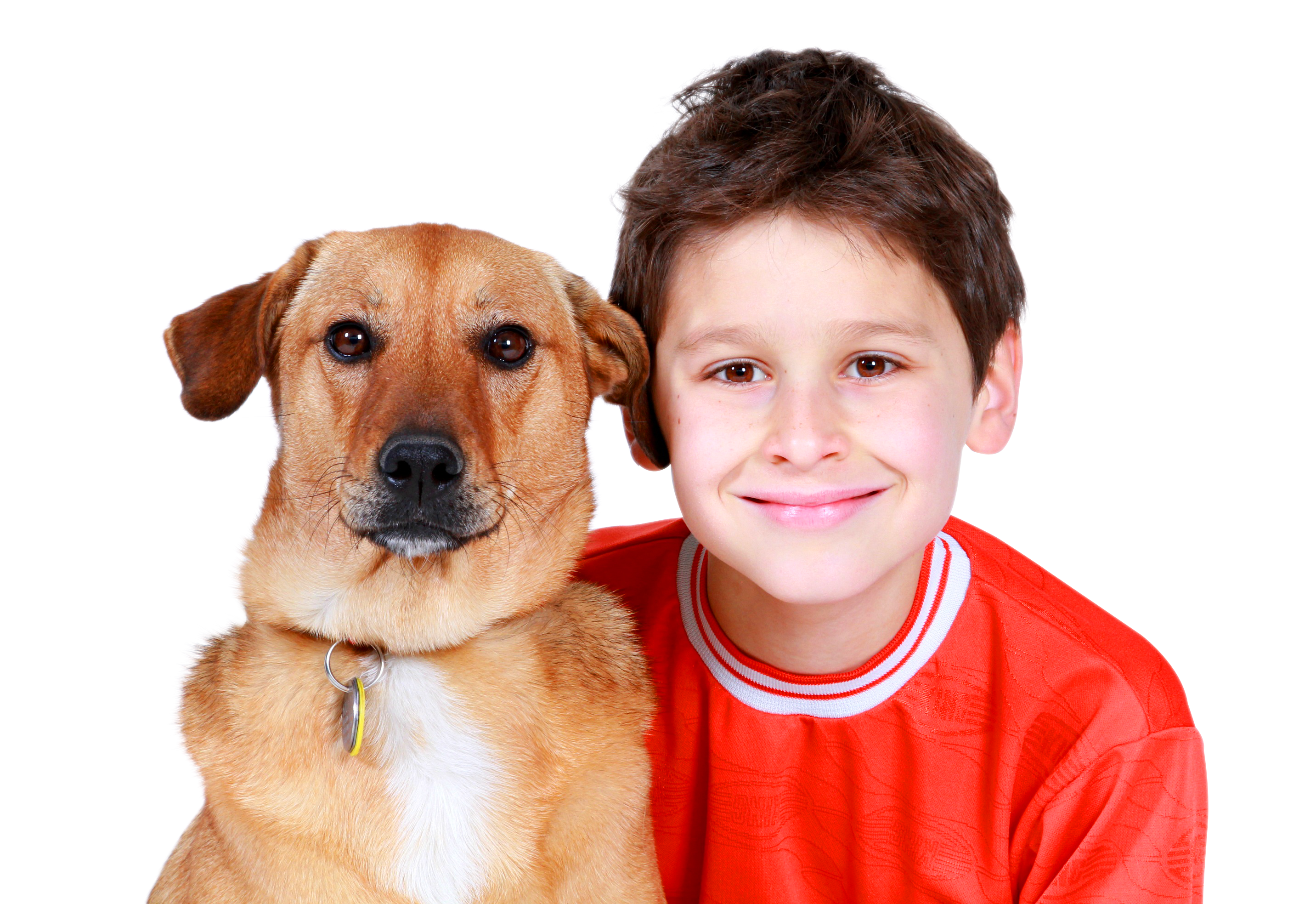 A boy with a dog PNG Image