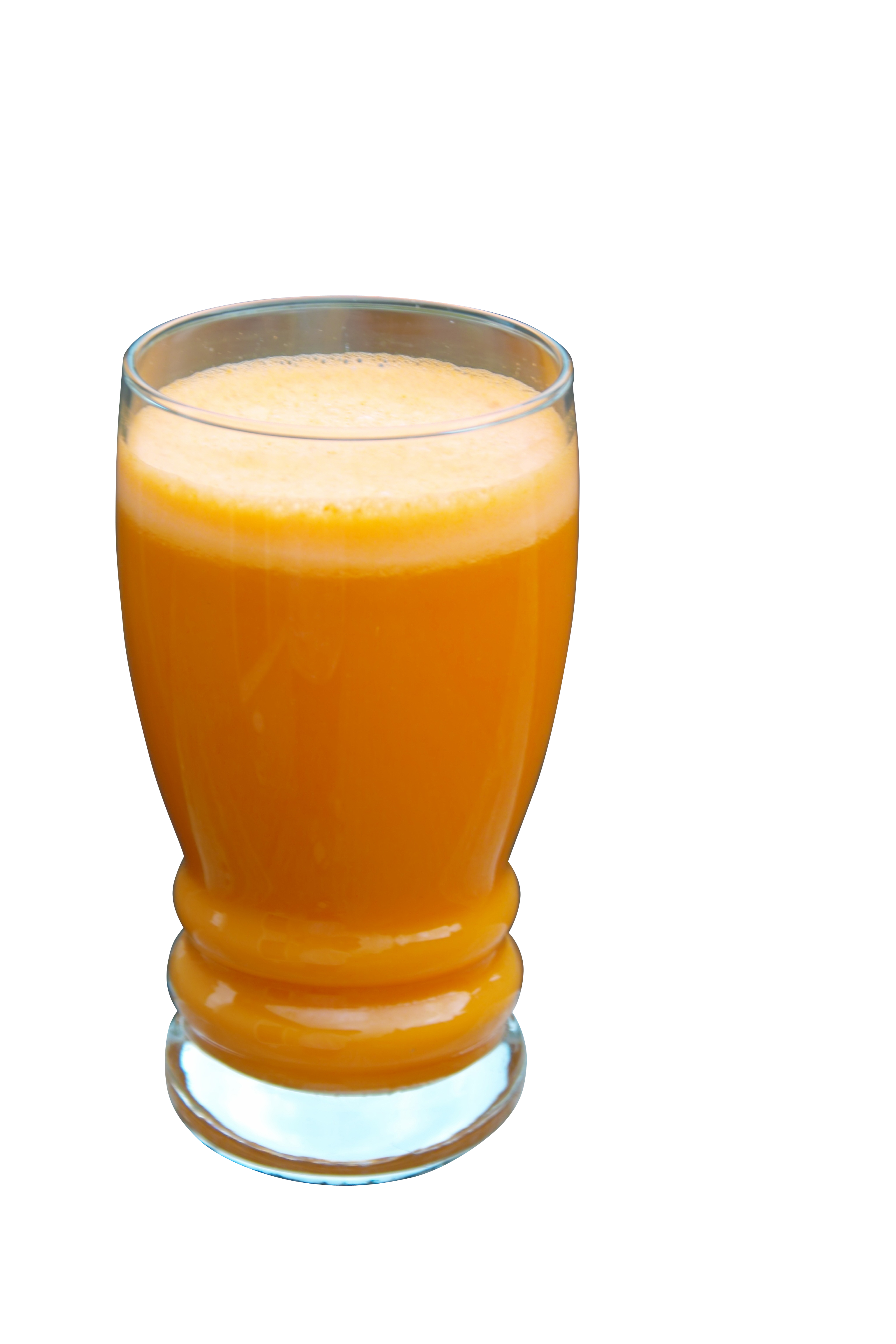 A Glass Filled with Orange Carrot Juice