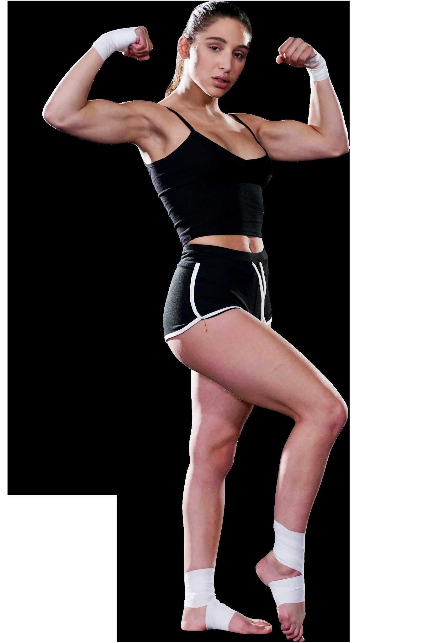 Abella Danger Muscle Pose PNG Image