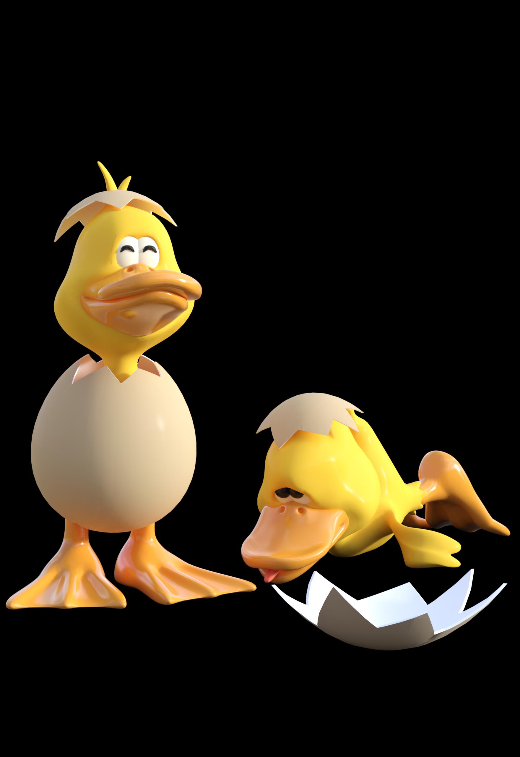 anime Baby Ducks in Eggs Shell