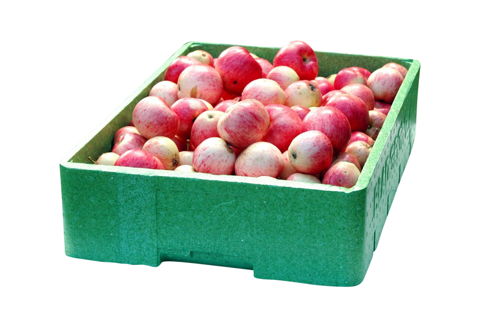 A Crate of Apples PNG Image