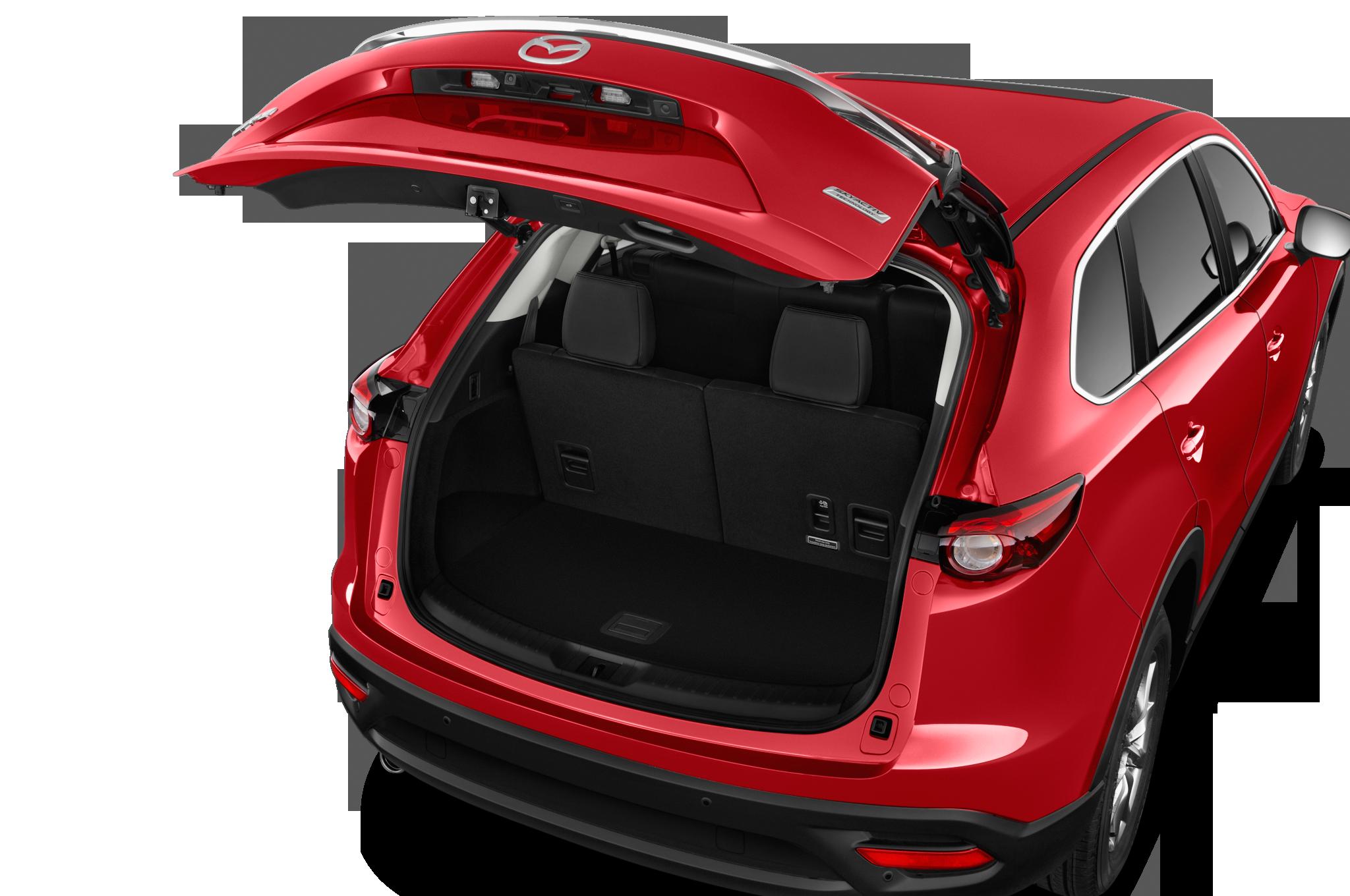 Backside open of Red Mazda Car