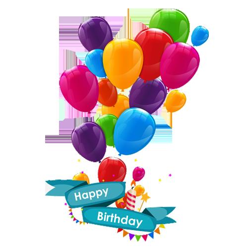 Happy Birthday Balloons PNG Image